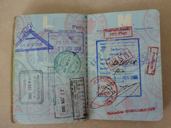 Passport stamps overstayed visa