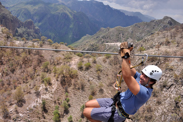 zip lining copper canyon