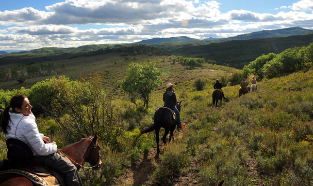 Steamboat springs horses hill view