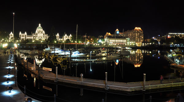 Port Angeles in Victoria duing night