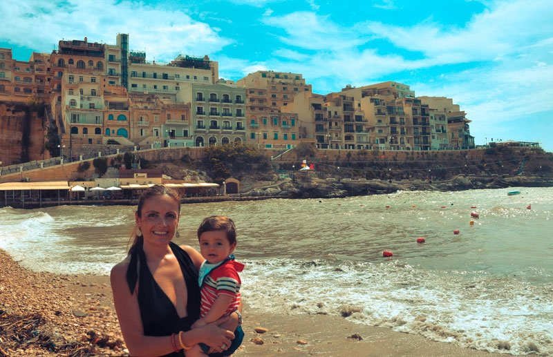 malta with a toddler