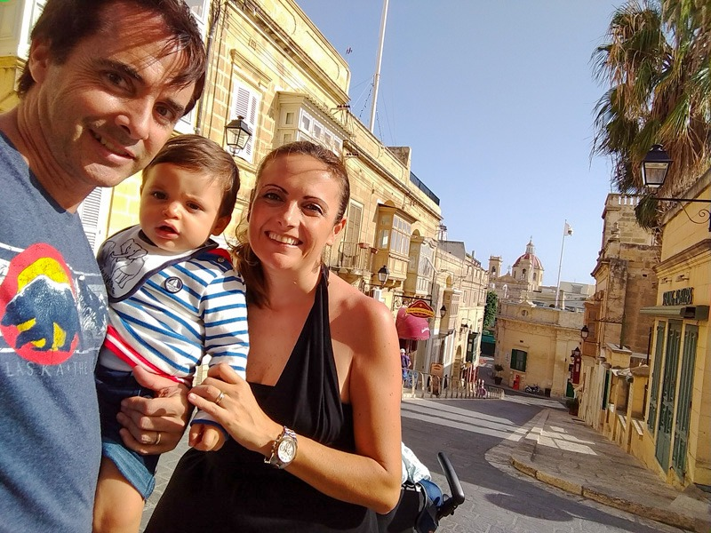 malta with a a baby street
