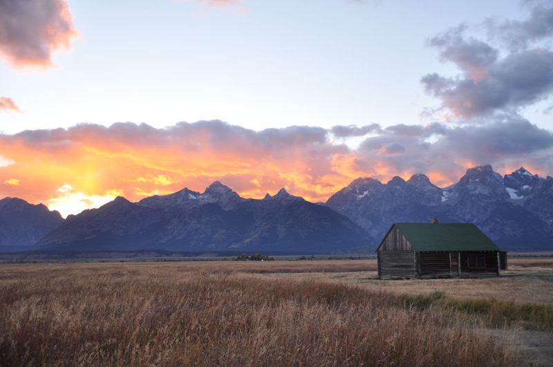 sunset grand teton
